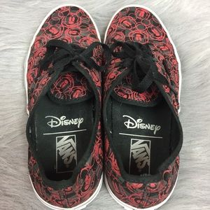 2fbd2a72b4 Vans Shoes - Disney Mickey Mouse Vans Black Red Gray Size 9 W